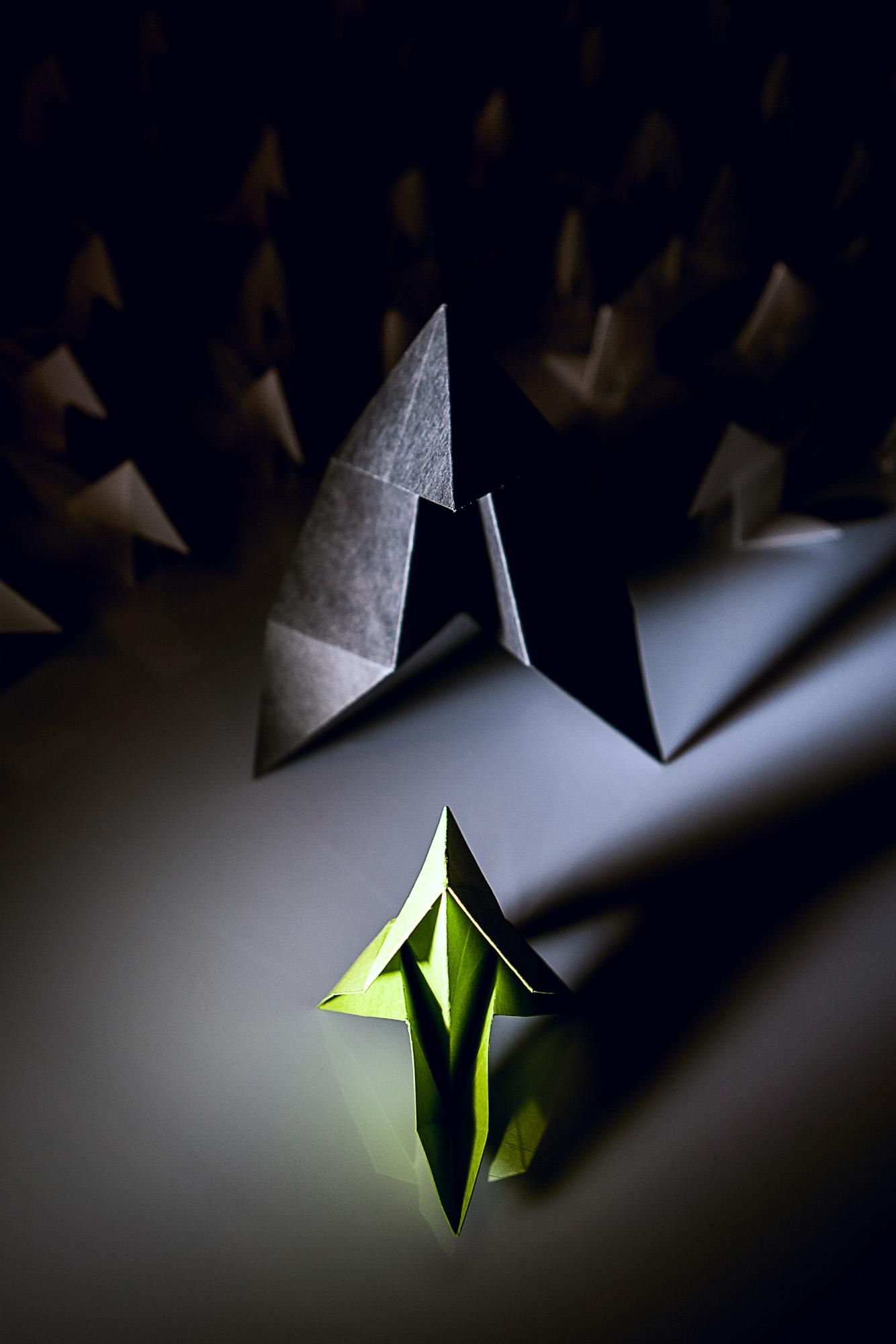Photographie d'origami - nature morte en studio à Lille (59)