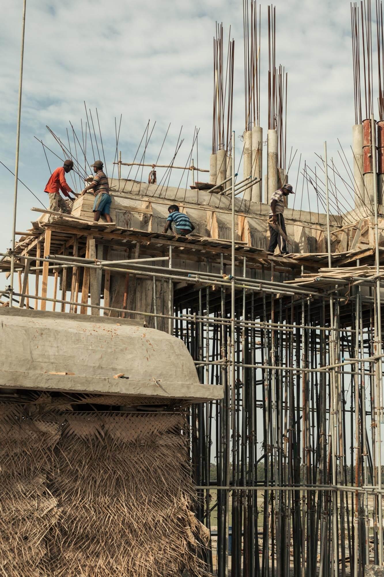 Construction de bâtiment maison au Sri Lanka