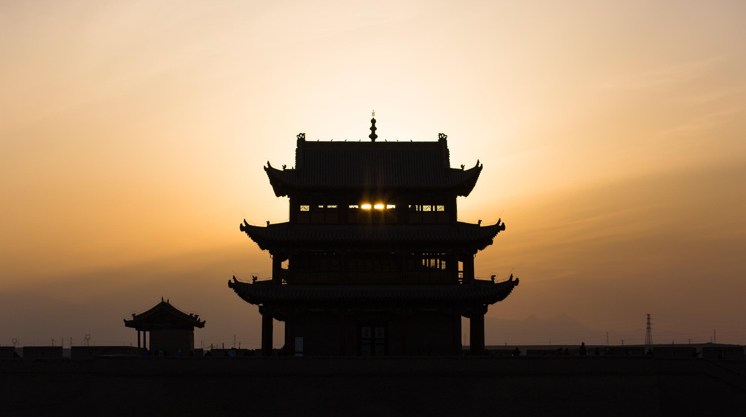 Architecture traditionnelle à Jiayuguan - Muraille de Chine