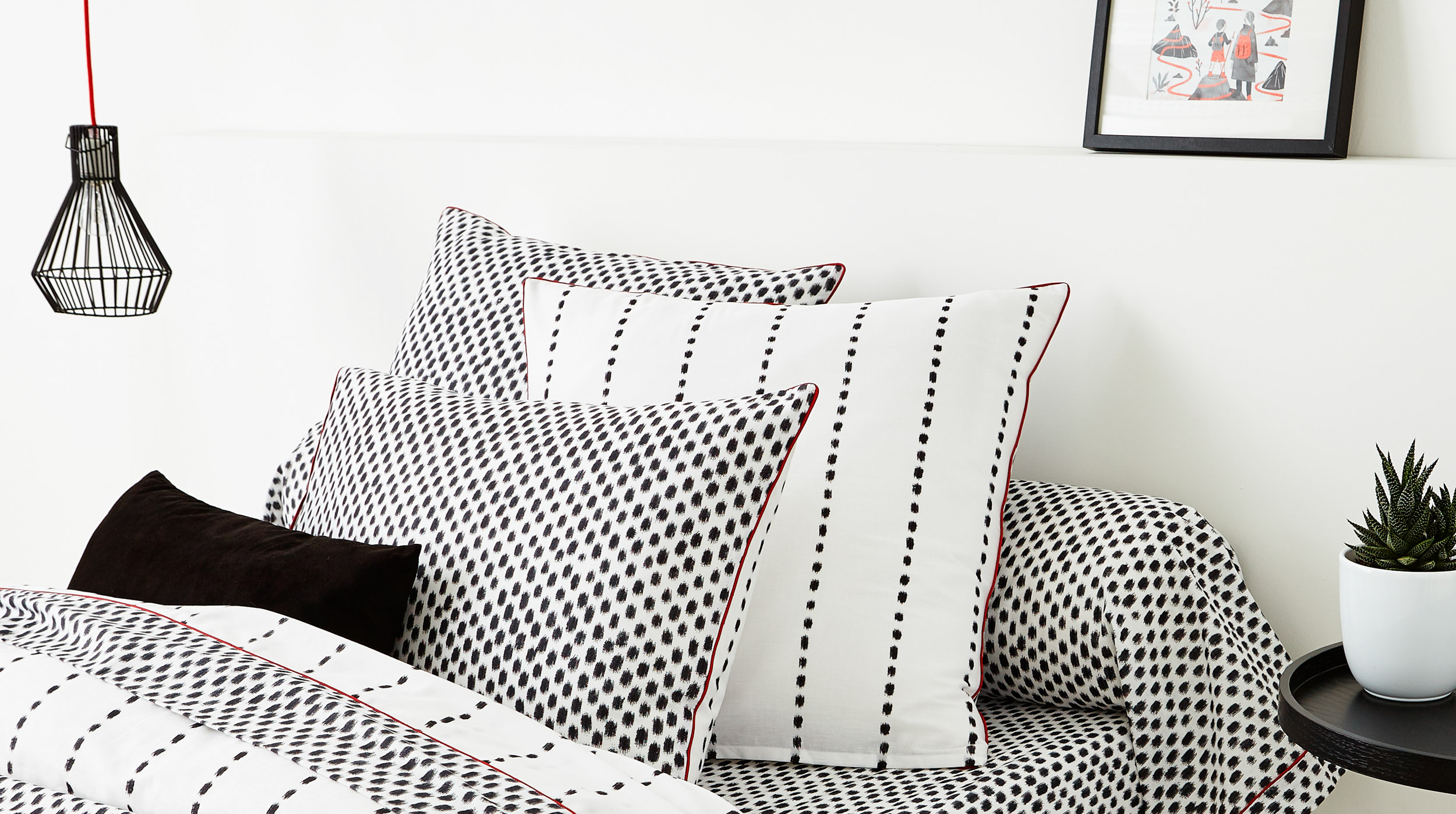 Photographie de linge de lit en ambiance dans le Nord (59)